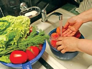 Употребляйте качественные и чистые продукты питания