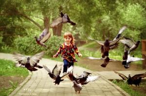 бегущий ребенок